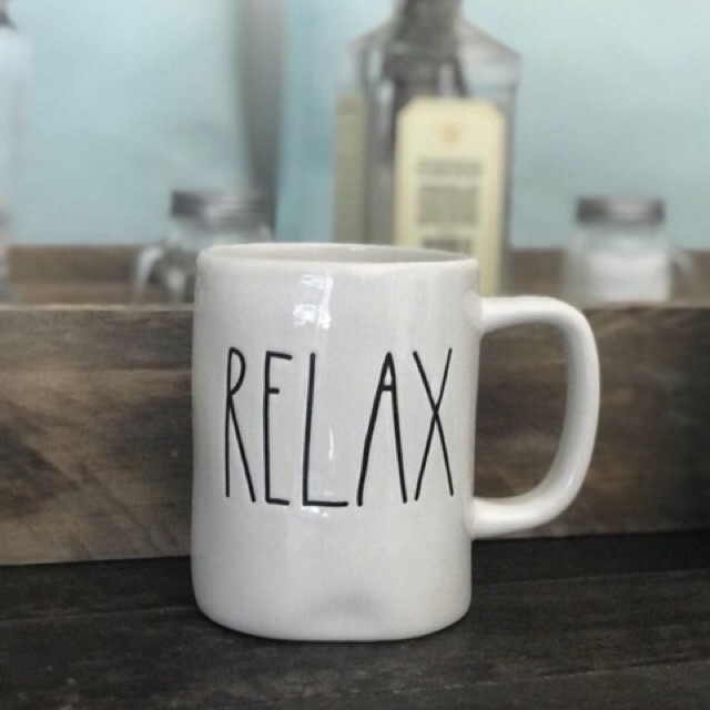 8c77c2f71d1 Rae Dunn Ceramic Pottery Coffee Mug Actual Photo RELAX