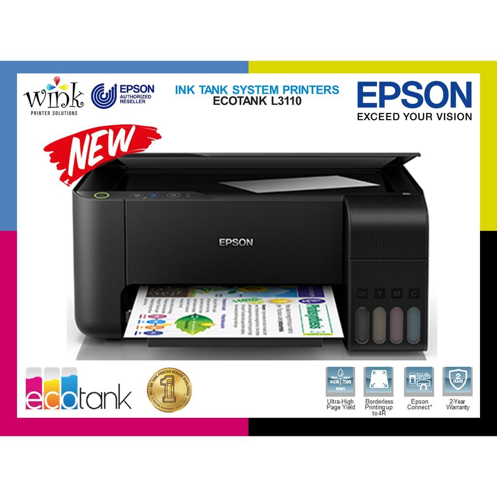 Epson L3110 EcoTank 3-in-1 Colored InkJet Printer