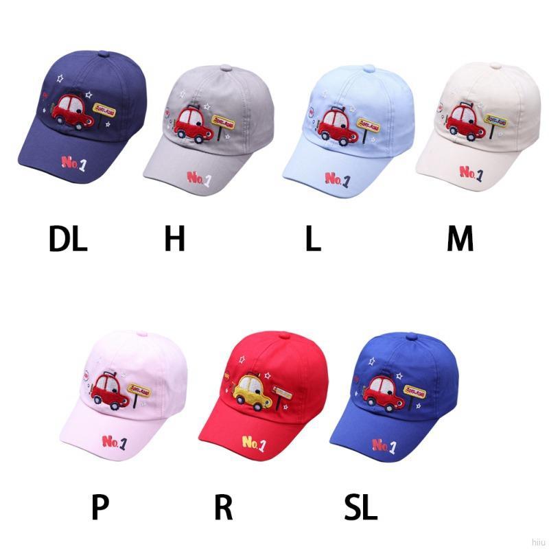 b3403c0b9 HIIU Baby Warm Baseball Cartoon Car Embroidery Visors Hats