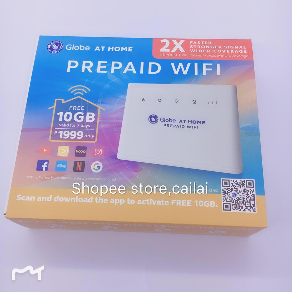 #cailai GLOBE At Home Prepaid Wifi Free 10GB valid for 7days