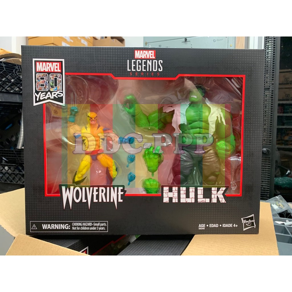 Marvel Legends 80th Anniversary *Wolverine ONLY* /& Hulk Action Figure 2Pack