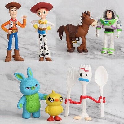 Figure Character Woody Lightyear Rex Forky Buzz Alien Bunny Collection Toy Story