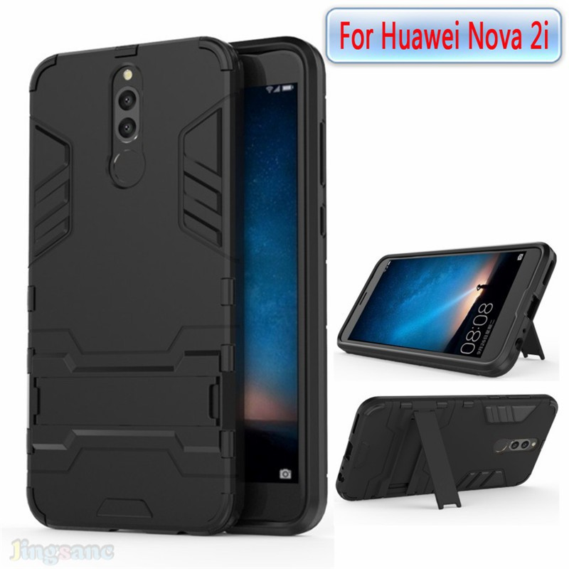 low priced ab22f e109e For Huawei Nova 2i nova2i Case soft TPU+hard Cover stand