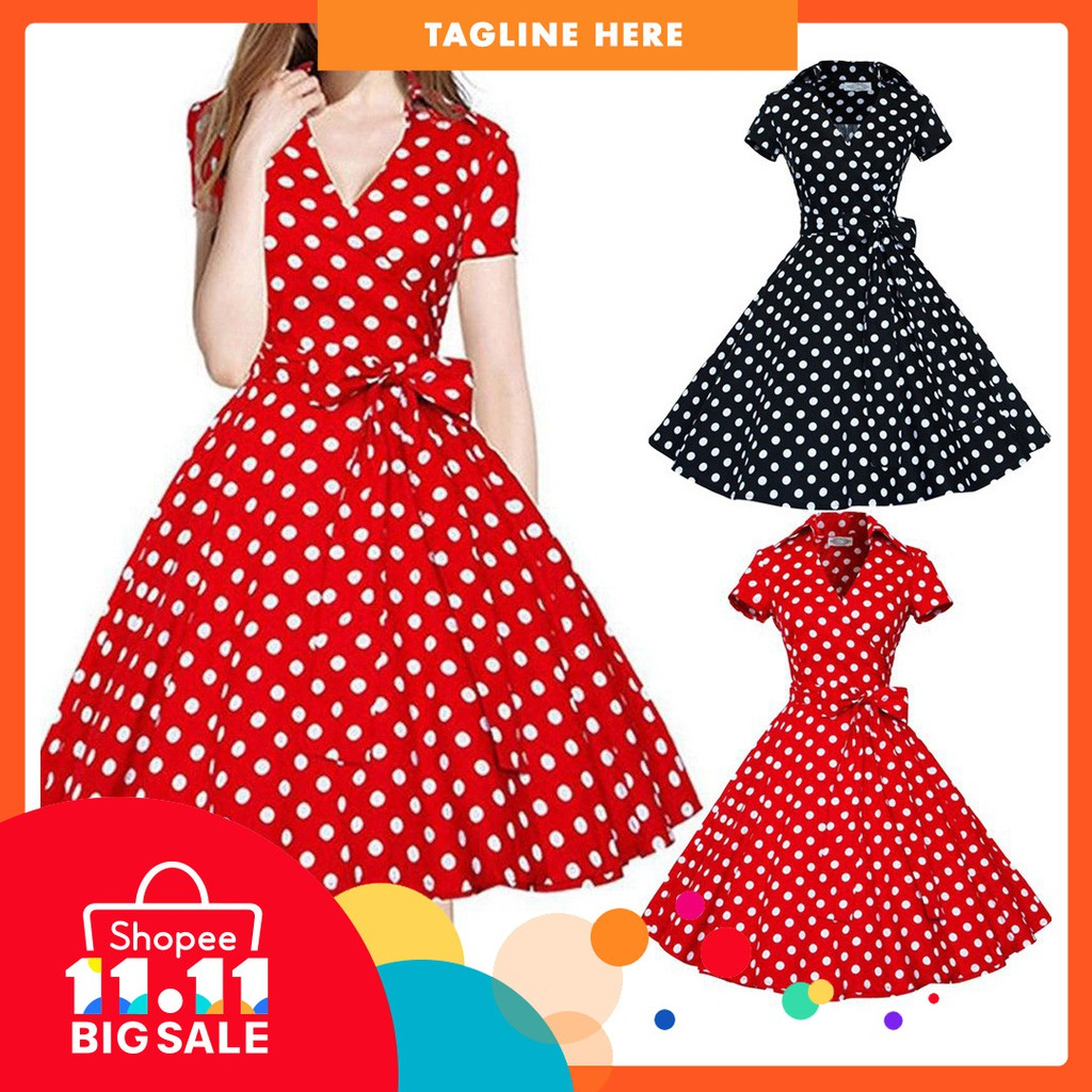 Hot Salewomen Vintage Dress Swing Pinup Retro Casual