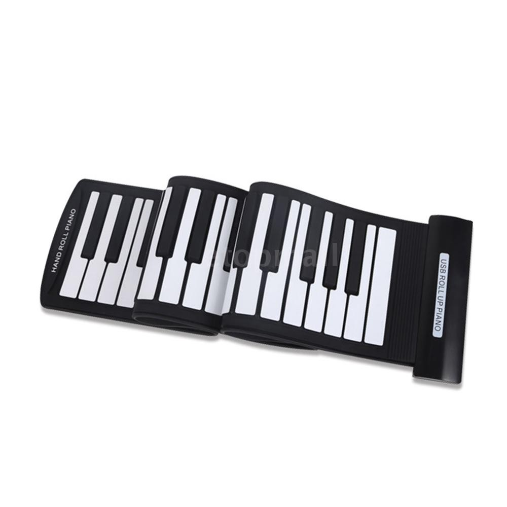 🔥🔥 Portable 61 Keys Flexible Roll-Up Piano USB MIDI Electronic Keyboard  Hand R