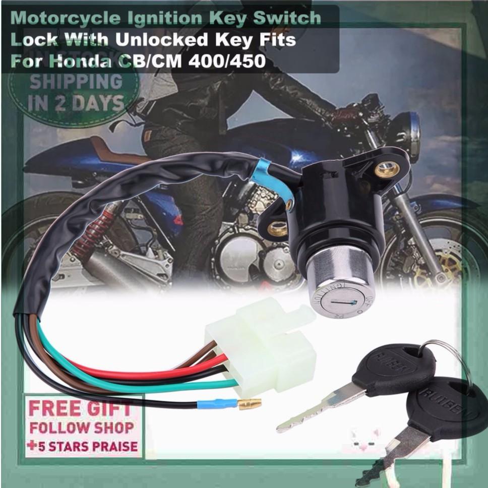 Key Switch Key Lock Unlocked CB/CM For 400/450 Ignition Fits