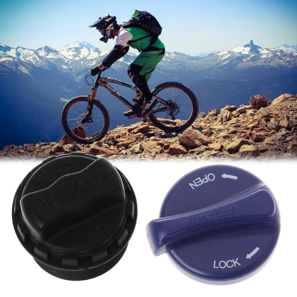 bicycle fork cover front gas shoulder cap aluminum alloy nozzle mountain bike/_vi