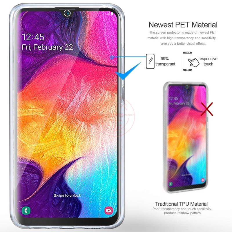 Samsung Galaxy A50 A30 A20 Case Two-Sides Clear Slim Cover | Shopee Philippines