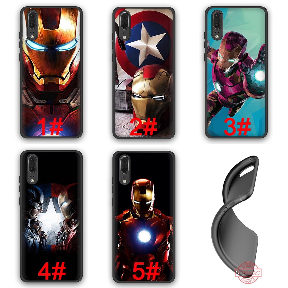 Marvel SuperHero Iron Man Soft Case Huawei P10 P20 P30 Lite Pro Y6 Y7 Prime 2018 Y9 2019