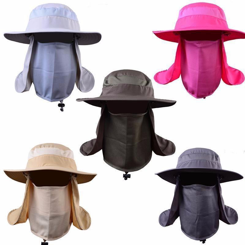 5de581dfca0 Unisex Wide Brim Hat Fishing 360° Sun UV protection Cap