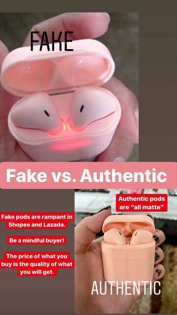 airpods 2 box real vs fake