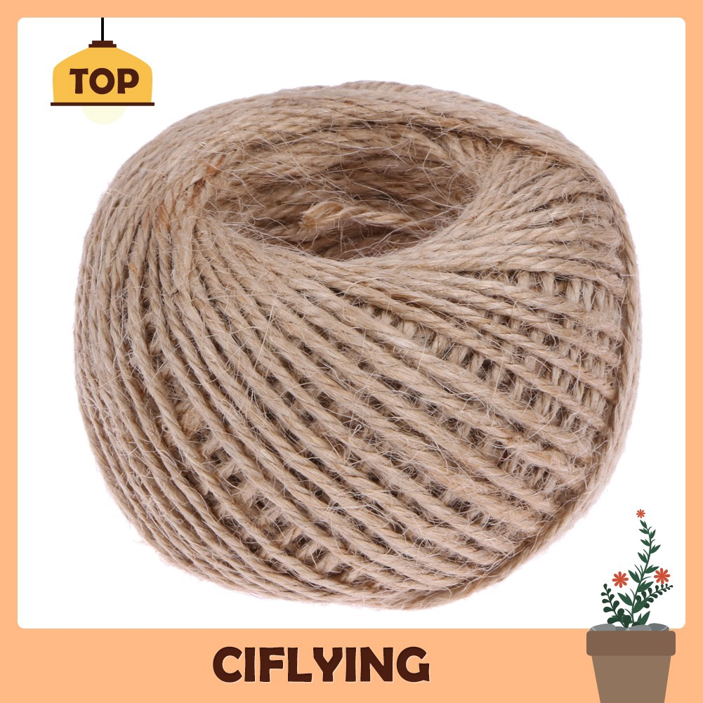 UK 100M Natural Hemp Linen Cord Twisted Burlap Jute Twine Rope String Craft Art