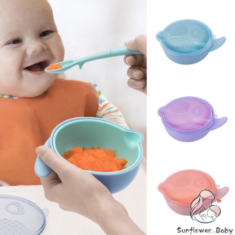 9PCS MANUAL BABY FRUIT FOOD MILLS GRINDER GRINDING BOWL MASHER FEEDING TOOL FADD
