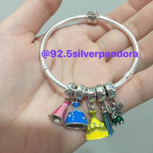 Pandora Bracelet With Disney Princesses 92 5 Silver Shopee Philippines