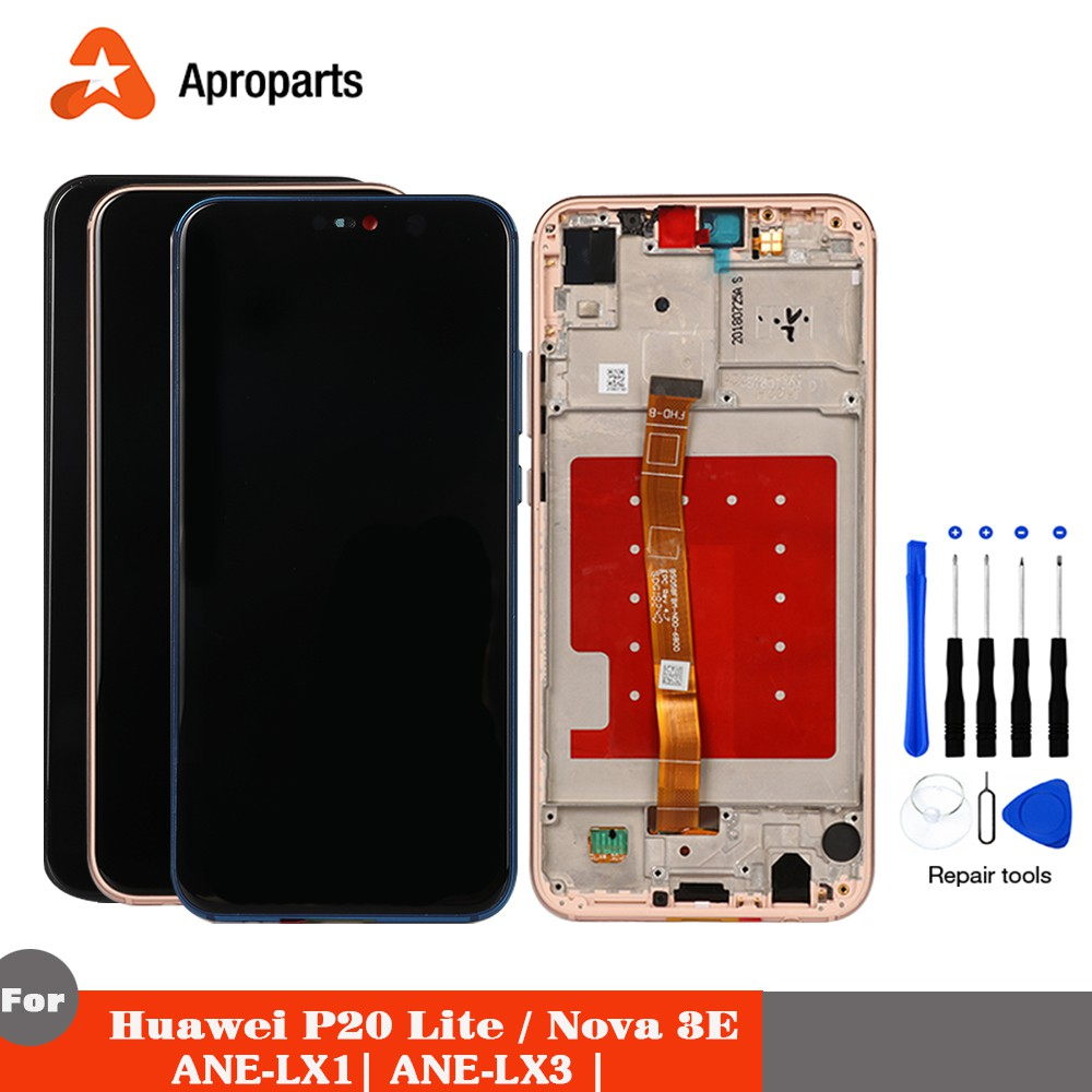 Display For Huawei P20 LIte LCD Touch Screen For Huawei Nova 3E ANE-LX1  ANE-LX3 Assembly Replacement