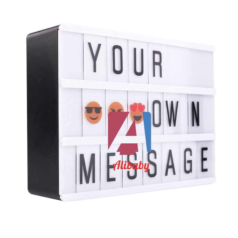 Letter Light Boxes.A B A6 Cinematic Cinema Led Light Letter Box Sign Lightbox