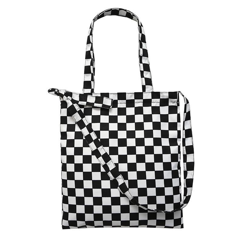 f5f0b67d29fa Personality plaid canvas diagonal cross bag canvas bag