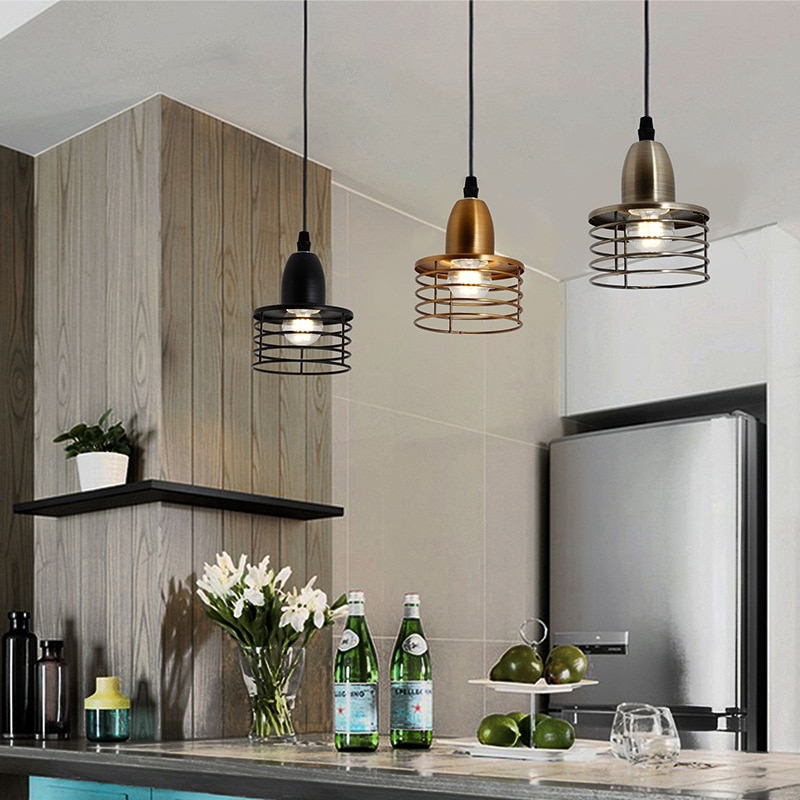 Industrial Retro Style Restaurant Pendant Lights Kitchen Island Lamps American Country Style Shopee Philippines