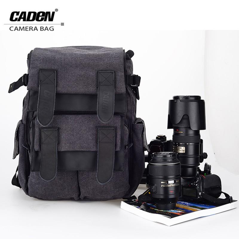 CADeN Waterproof Canvas Camera Bag Backpack Photo Video Digital Camera Case  M5