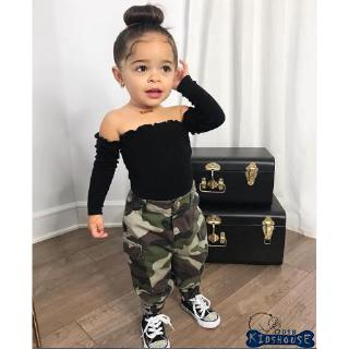 1 set summer outfits for baby girls lace crop tops /& PP short pants kids outfits