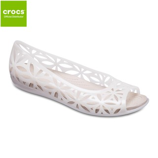 b39afcd791ea Crocs Isabella Jelly II Flat Womens - Oyster Cobblestone | Shopee  Philippines