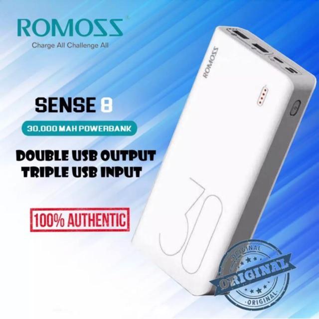 100% ORIGINAL ROMOSS SENSE 8 30000MAH POWERBANK