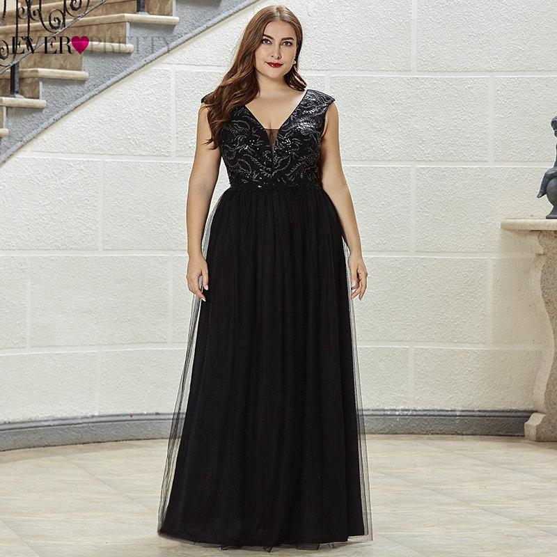 Black Plus Size Evening Dresses