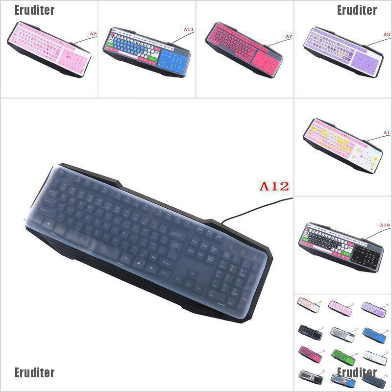1PC colorful silicone universal desktop computer keyboard cover skin protectorEP