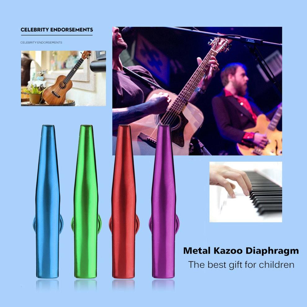 Kazoo Diaphragm Harmonica Mouth Flute Kid Children Metal | Shopee Philippines