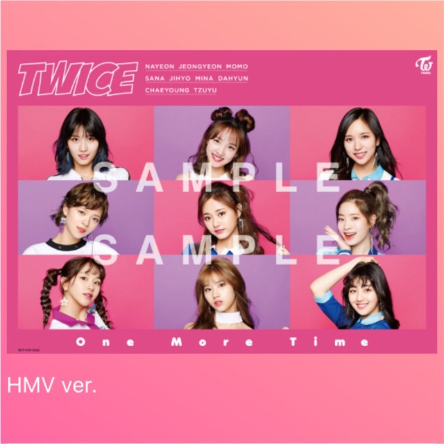Twice Onhand One More Time Official Japanese Poster Hmv Ver