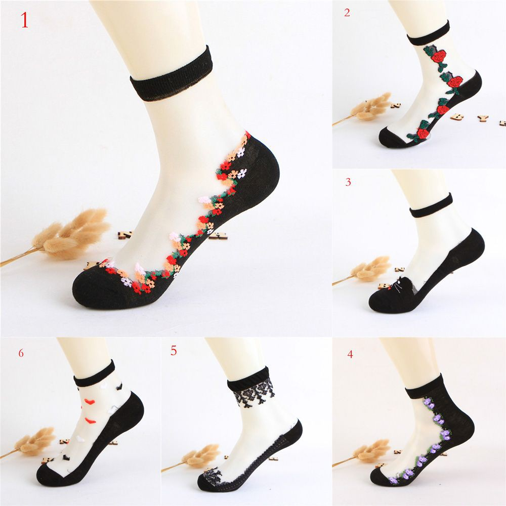 1ffe6e5a6 ProductImage. ProductImage. Women Thin Roses Flower Soft Sock