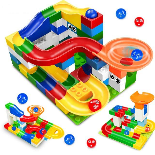 Toys & Hobbies Disciplined 1set 3 Styles Educational Diy Construction Marble Race Run Maze Balls Track Building Blocks Colorful Block Children Kids Toys Attractive Fashion Blocks
