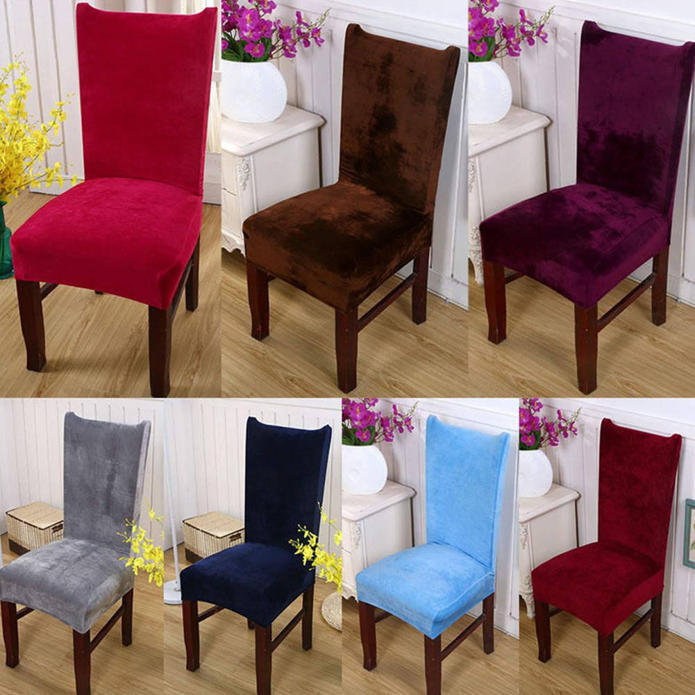 Spandex Chair Seat Cover Hood Removable Stretch Lunch Wedding Covers//Kitchen Top