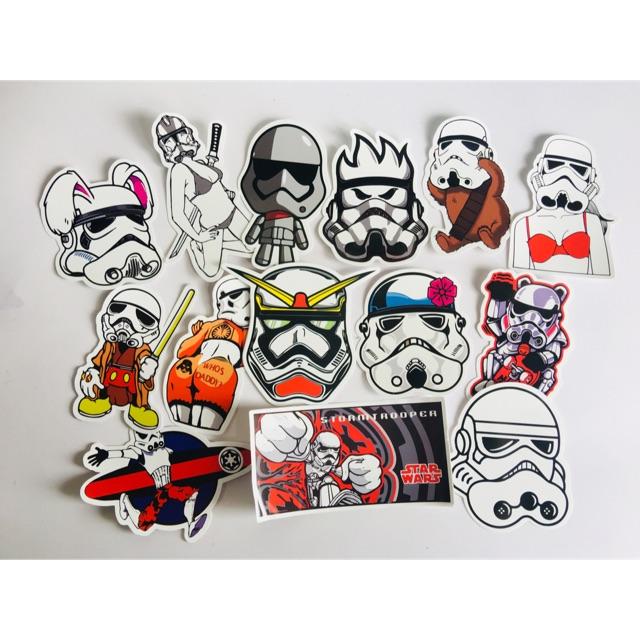 Quality Star Wars Storm Trooper Helmet Vinyl Sticker PVC Decal Label Skateboard