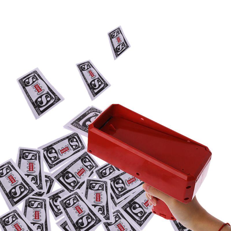 1pc Super Money Launch Gun Cash Launcher Toy Gift Set Make it rain Party Game