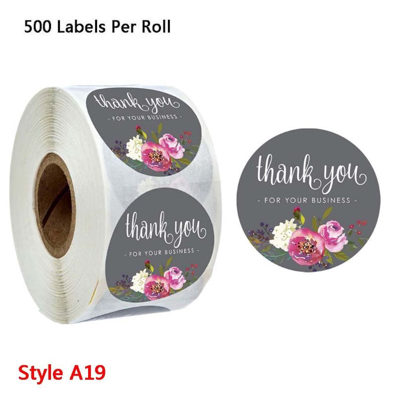 Marks Flower Sticker Wedding Decoration 500 Pcs//Set Ornament Color Thank You Tag