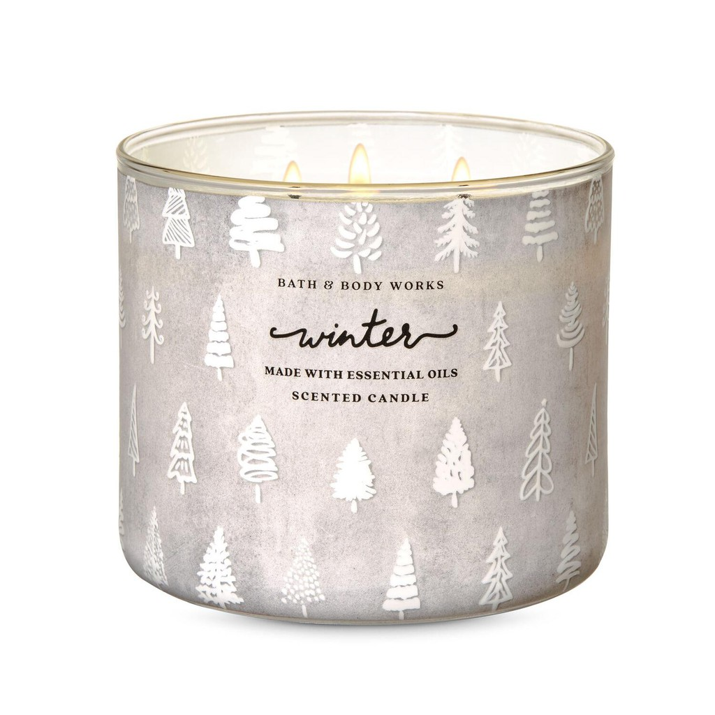 Authentic Bath And Body Works Winter 3 Wick Scented Candle 14 5 Oz 411 G Made In Usa Shopee Philippines