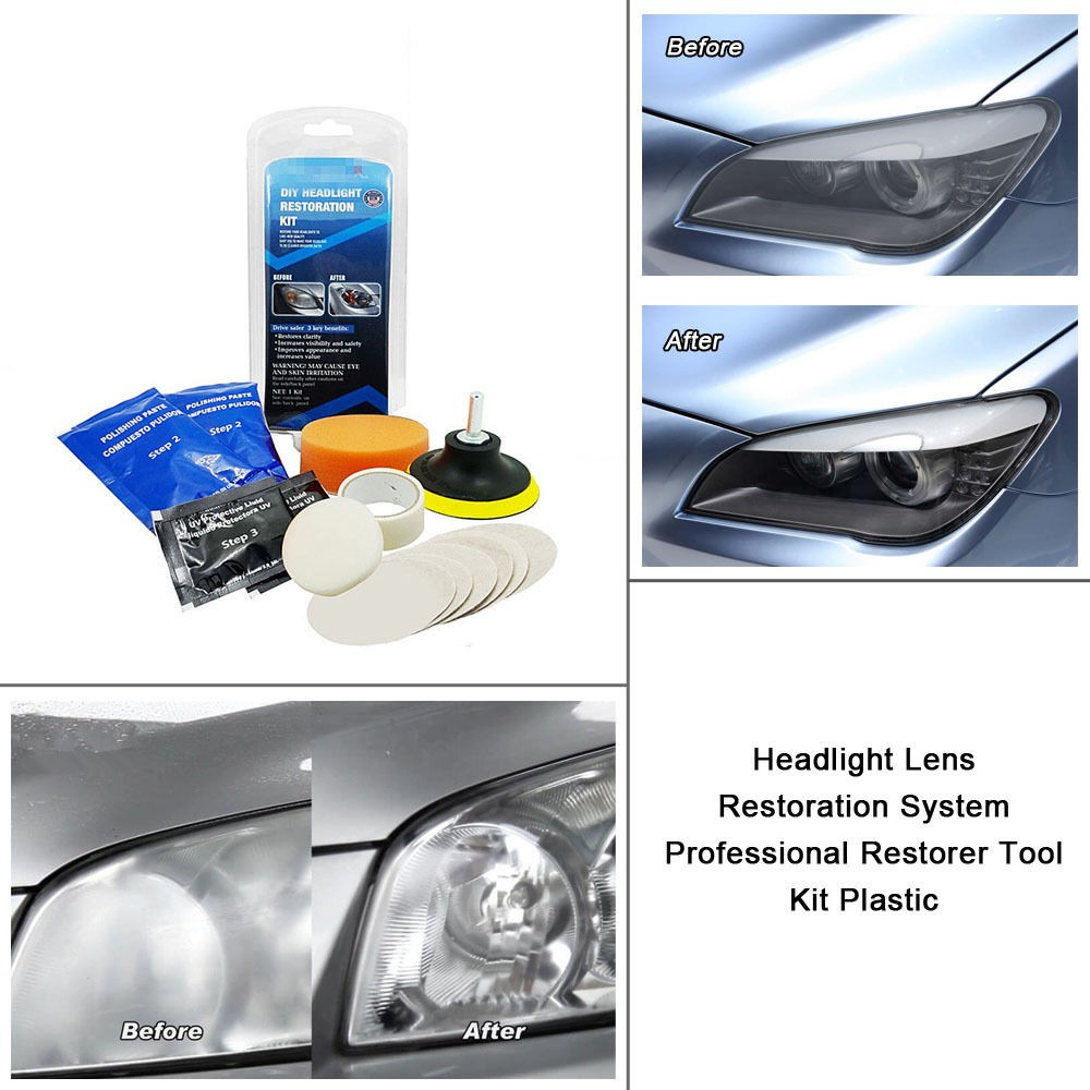 Headlight Restoration Car Restore Tool Auto Lens Repair