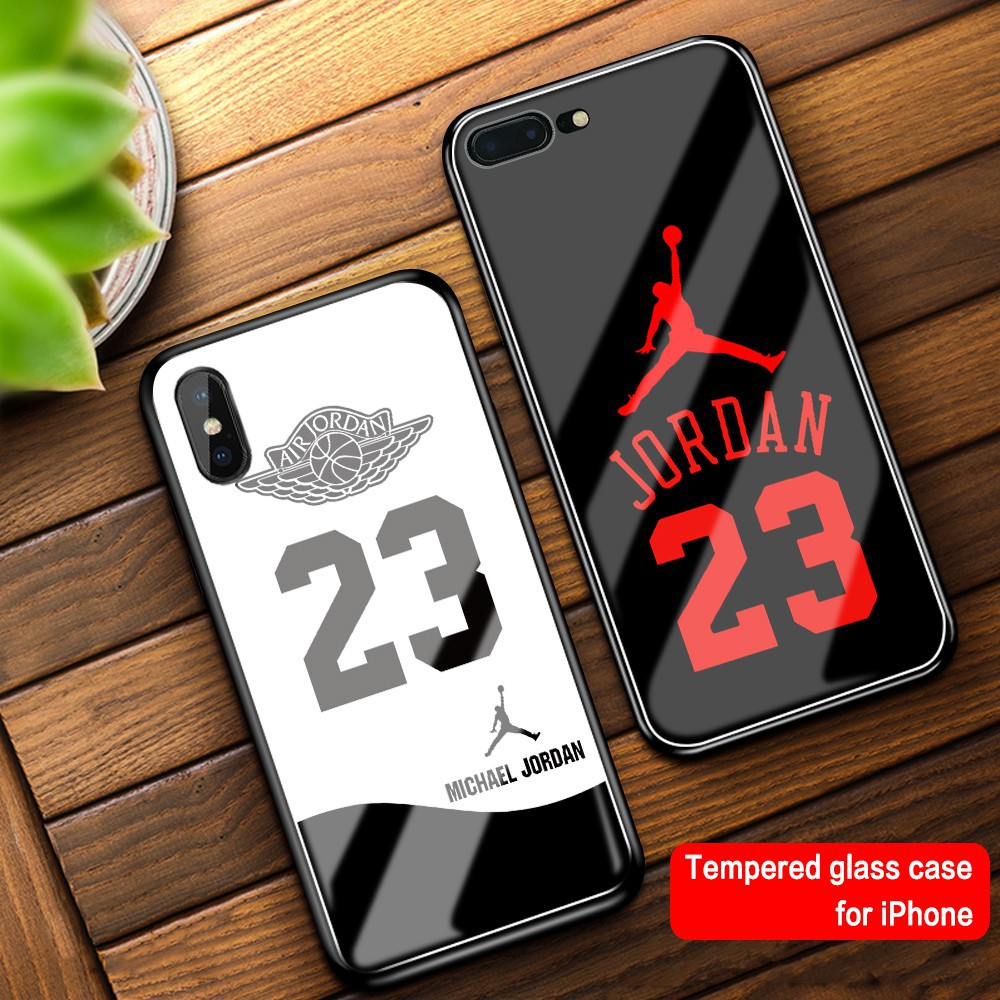 Iphone 11 Air Jordan Glass Tempered Case For IPhone 6 6s 7 8 Plus X Xr Xs Max 11 pro max phone case
