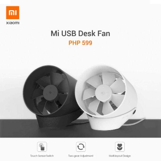 Xiaomi Usb Desk Fan Black Shopee Philippines