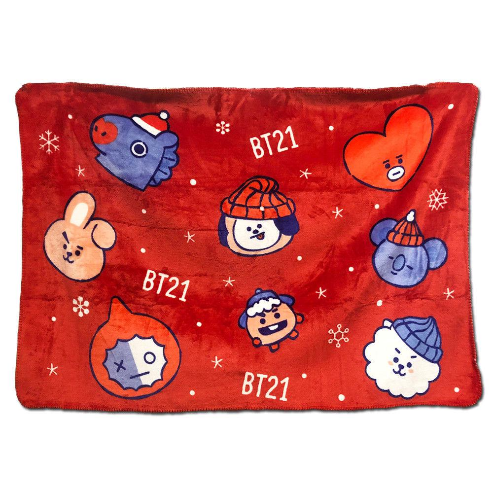 Christmas Blankets.Star 5 Bts Bangtan Boys Christmas Blankets Thicken Air Cond