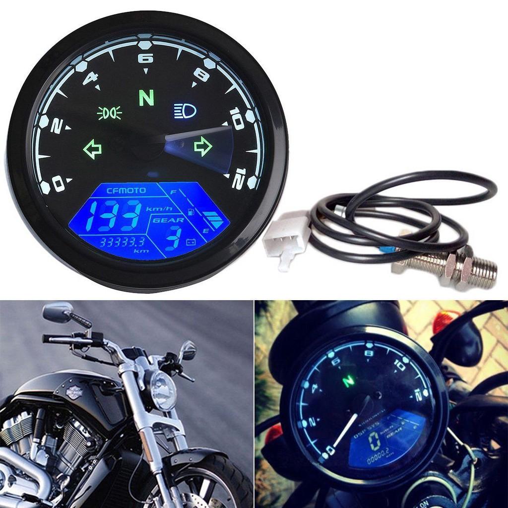LCD Digital Gauge Motorcycle Speedometer Odometer Motor Bike
