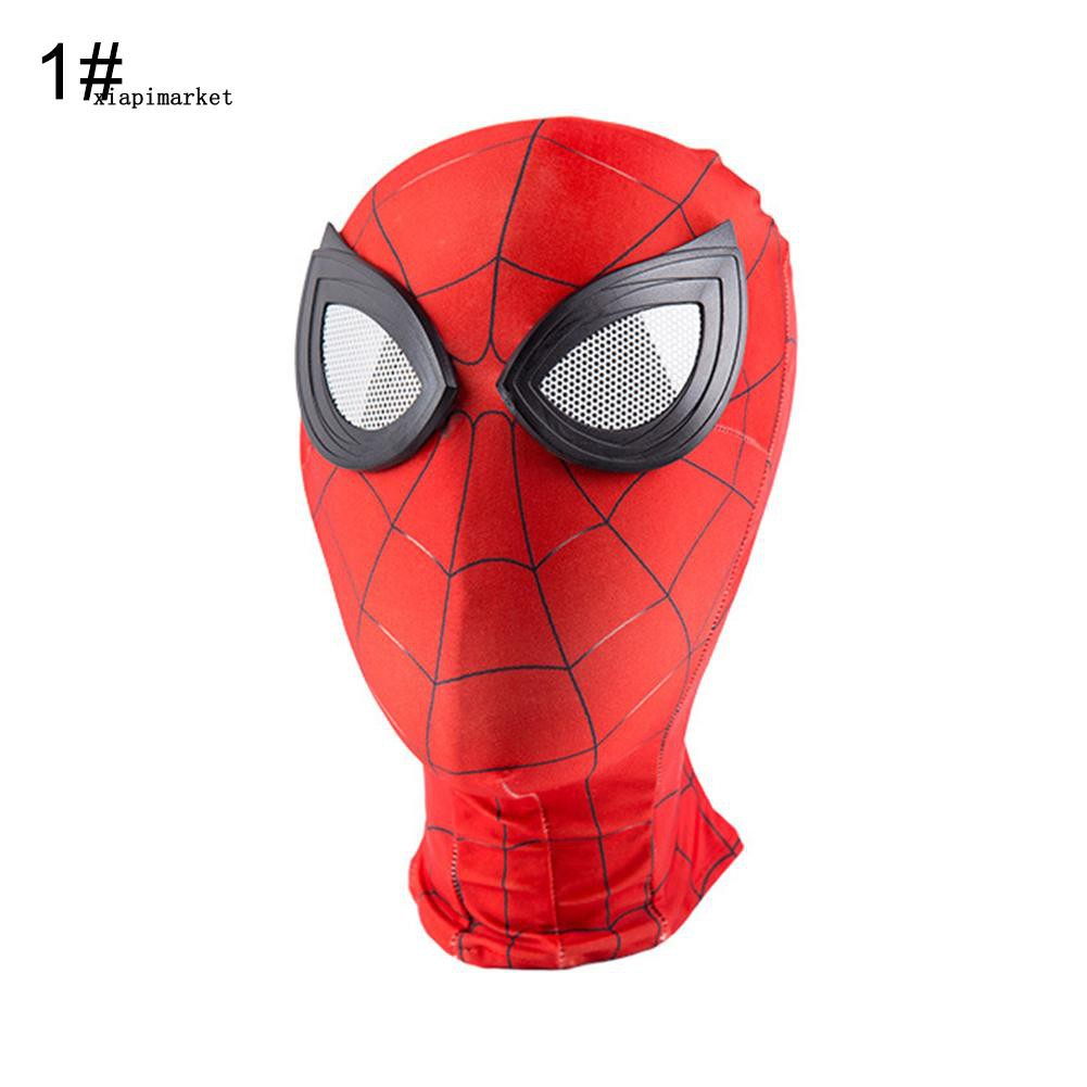 Super Hero Spiderman Full Head Hood Mask Adult Kids Fancy Dress Cosplay Costume