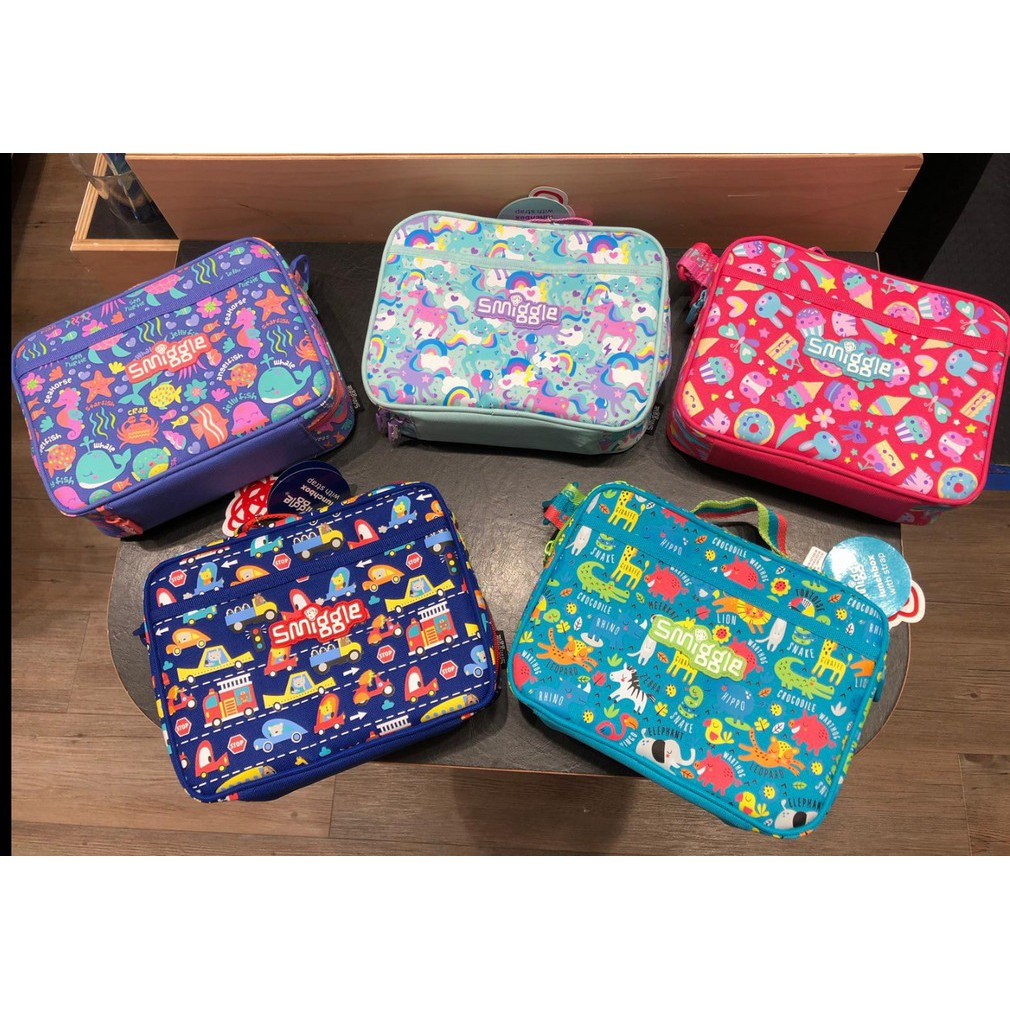 Smiggle Authentic Skip Teeny Tiny Collection Lunch bags with strap for  toodlers
