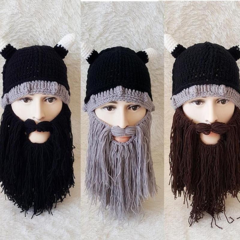 0c3c66183 Brand New Beanie Gift Cap Face Mask Beard Horn Hat
