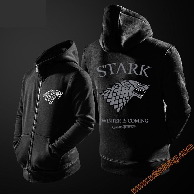 Game of Thrones Cute Wolf House Stark Pullover Hoodie Jacket Hooded Sweater