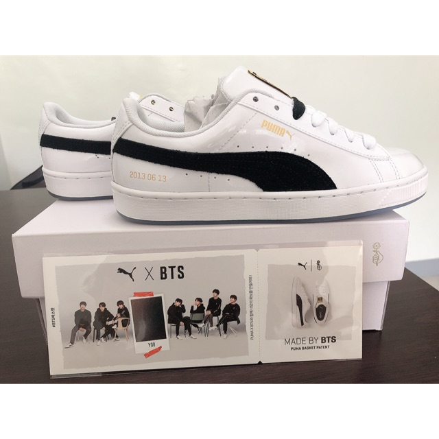 new arrivals 8e05b 80318 PUMA x BTS Basket Patent Sneakers Authentic