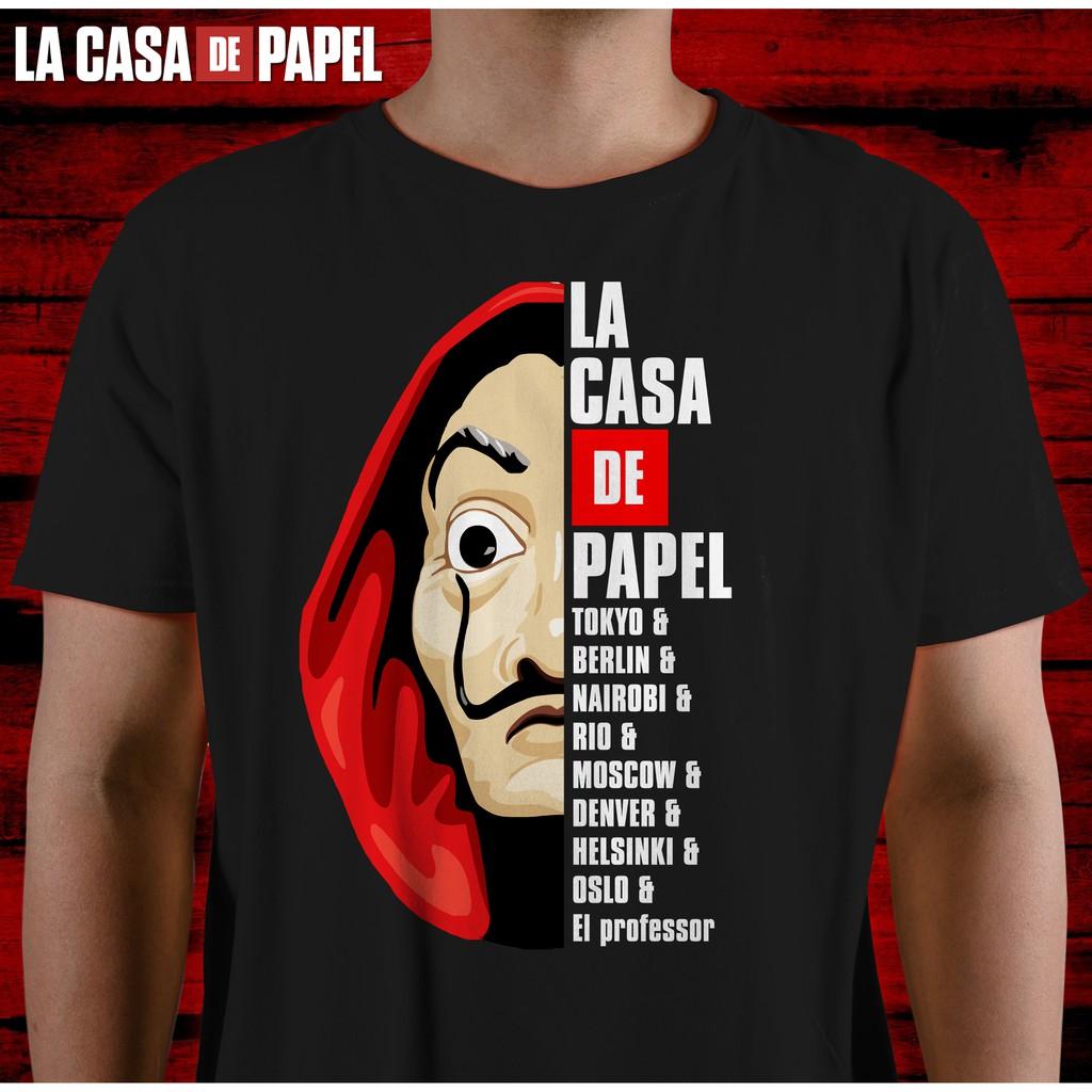 Names Money Heist Professor Le Casa De Papel *NAMES* Tshirt