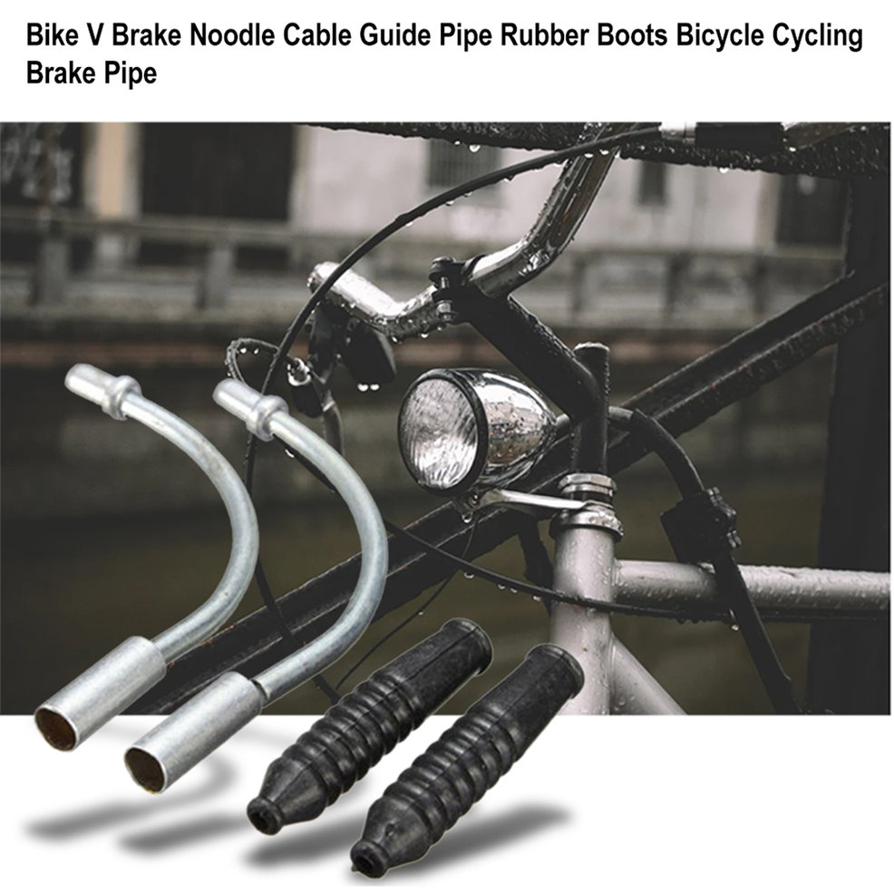 20pcs Bicycle V-Brake Noodle 90degree Cable Lead Pipe Cycle Brake Hose Guide