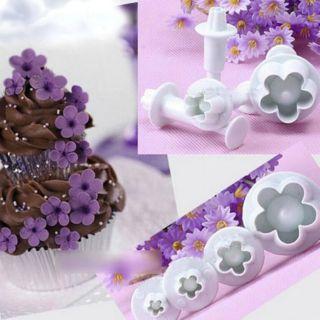 4pcs Blossom Plunger Cutter Flower Petal Clay Fondant Cake Shopee